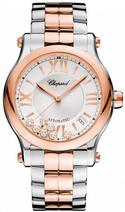 Chopard Happy Sport Medium Automatic 36mm Ladies watch, model number - 278559-6002, discount price of £10,268.00 from The Watch Source