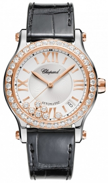 Chopard Happy Sport Medium Automatic 36mm Ladies watch, model number - 278559-6003, discount price of £11,849.00 from The Watch Source