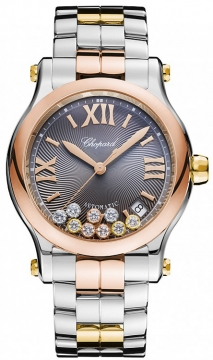 Chopard Happy Sport Medium Automatic 36mm Ladies watch, model number - 278559-9001, discount price of £9,868.00 from The Watch Source