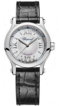Buy this new Chopard Happy Sport Automatic 30mm 278573-3001 ladies watch for the discount price of £4,382.00. UK Retailer.
