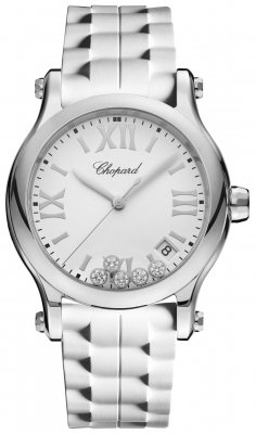 Buy this new Chopard Happy Sport Round Quartz 36mm 278582-3001 ladies watch for the discount price of £3,935.00. UK Retailer.
