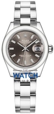 Rolex Lady Datejust 28mm Stainless Steel 279160 Dark Grey Index Oyster watch