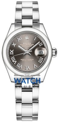Rolex Lady Datejust 28mm Stainless Steel 279160 Dark Grey Roman Oyster