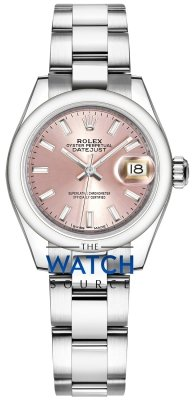 Rolex Lady Datejust 28mm Stainless Steel 279160 Pink Index Oyster watch