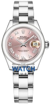 Rolex Lady Datejust 28mm Stainless Steel 279160 Pink Roman Oyster watch