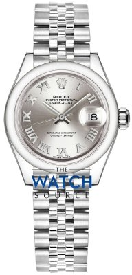 Rolex Lady Datejust 28mm Stainless Steel 279160 Silver Roman Jubilee watch