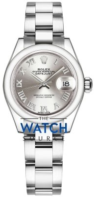 Rolex Lady Datejust 28mm Stainless Steel 279160 Silver Roman Oyster watch