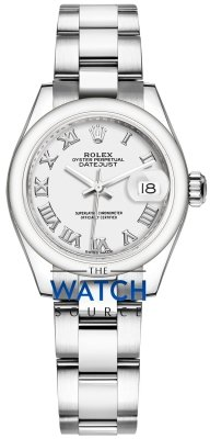 Rolex Lady Datejust 28mm Stainless Steel 279160 White Roman Oyster watch