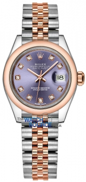 Rolex Lady Datejust 28mm Stainless Steel and Everose Gold 279161 Aubergine Diamond Jubilee watch