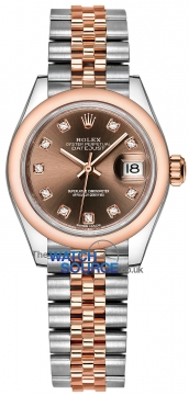 Rolex Lady Datejust 28mm Stainless Steel and Everose Gold 279161 Chocolate Diamond Jubilee watch
