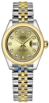Rolex Lady Datejust 28mm Stainless Steel and Yellow Gold 279163 Champagne Diamond Jubilee watch