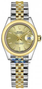Rolex Lady Datejust 28mm Stainless Steel and Yellow Gold 279163 Champagne Index Jubilee watch