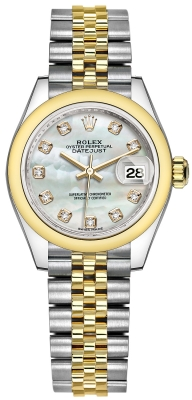 Rolex Lady Datejust 28mm Stainless Steel and Yellow Gold 279163 MOP Diamond Jubilee watch