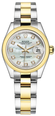 Rolex Lady Datejust 28mm Stainless Steel and Yellow Gold 279163 MOP Diamond Oyster watch