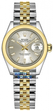Rolex Lady Datejust 28mm Stainless Steel and Yellow Gold 279163 Silver Index Jubilee watch