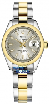 Rolex Lady Datejust 28mm Stainless Steel and Yellow Gold 279163 Silver Index Oyster watch