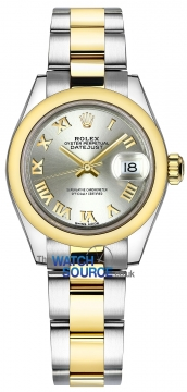 Rolex Lady Datejust 28mm Stainless Steel and Yellow Gold 279163 Silver Roman Oyster watch