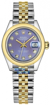 Rolex Lady Datejust 28mm Stainless Steel and Yellow Gold 279163 Lavender Diamond Jubilee watch