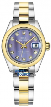 Rolex Lady Datejust 28mm Stainless Steel and Yellow Gold 279163 Lavender Diamond Oyster watch