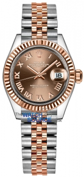 Rolex Lady Datejust 28mm Stainless Steel and Everose Gold 279171 Chocolate Roman Jubilee watch