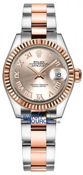 Rolex Lady Datejust 28mm Stainless Steel and Everose Gold 279171 Sundust Roman Oyster watch