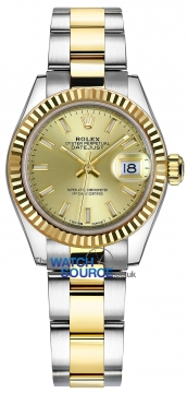 Rolex Lady Datejust 28mm Stainless Steel and Yellow Gold 279173 Champagne Index Oyster watch