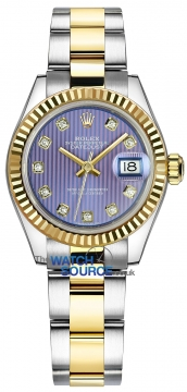 Rolex Lady Datejust 28mm Stainless Steel and Yellow Gold 279173 Lavender Diamond Oyster watch