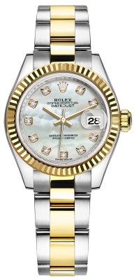 Rolex Lady Datejust 28mm Stainless Steel and Yellow Gold 279173 MOP Diamond Oyster watch