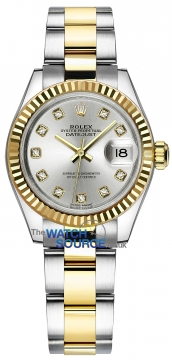 Rolex Lady Datejust 28mm Stainless Steel and Yellow Gold 279173 Silver Diamond Oyster watch