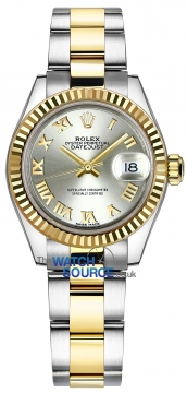Rolex Lady Datejust 28mm Stainless Steel and Yellow Gold 279173 Silver Roman Oyster watch