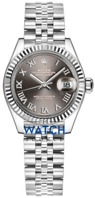 Rolex Lady Datejust 28mm Stainless Steel 279174 Silver Roman Jubilee watch