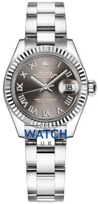 Rolex Lady Datejust 28mm Stainless Steel 279174 Dark Grey Roman Oyster watch