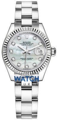 Rolex Lady Datejust 28mm Stainless Steel 279174 MOP Diamond Oyster watch