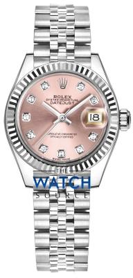 Rolex Lady Datejust 28mm Stainless Steel 279174 Pink Diamond Jubilee watch