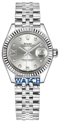 Rolex Lady Datejust 28mm Stainless Steel 279174 Silver 17 Diamond Jubilee watch