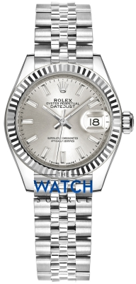 Rolex Lady Datejust 28mm Stainless Steel 279174 Silver Index Jubilee watch