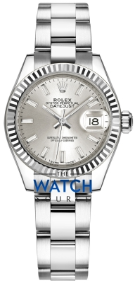 Rolex Lady Datejust 28mm Stainless Steel 279174 Silver Index Oyster watch
