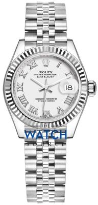 Rolex Lady Datejust 28mm Stainless Steel 279174 White Roman Jubilee watch