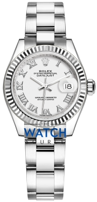 Rolex Lady Datejust 28mm Stainless Steel 279174 White Roman Oyster watch