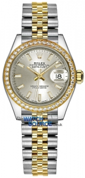 Rolex Lady Datejust 28mm Stainless Steel and Yellow Gold 279383RBR Silver Index Jubilee watch
