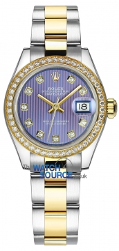 Rolex Lady Datejust 28mm Stainless Steel and Yellow Gold 279383RBR Lavender Diamond Oyster watch