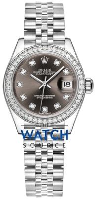 Rolex Lady Datejust 28mm Stainless Steel 279384RBR Dark Grey Diamond Jubilee watch