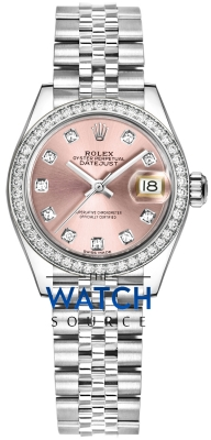 Rolex Lady Datejust 28mm Stainless Steel 279384RBR Pink Diamond Jubilee watch