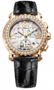 Chopard Happy Sport Chronograph Quartz 42mm Ladies watch, model number - 283583-5003, discount price of £22,219.00 from The Watch Source