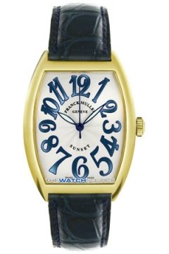 Franck Muller Cintree Curvex Midsize watch, model number - 2852 SC RS Sunset YG Silver, discount price of £8,855.00 from The Watch Source