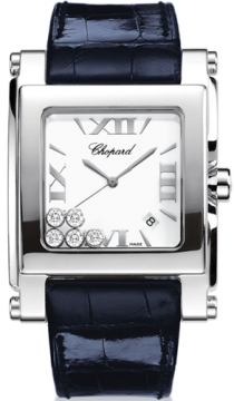 Chopard Happy Sport Square Quartz XL Ladies watch, model number - 288447-3001, discount price of £5,482.00 from The Watch Source