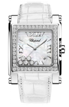 Chopard Happy Sport Square Quartz XL Ladies watch, model number - 288448-2002, discount price of £15,946.00 from The Watch Source