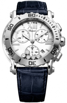 Chopard Happy Sport Chronograph Quartz 42mm Ladies watch, model number - 288499-3001-Blue, discount price of £5,313.00 from The Watch Source