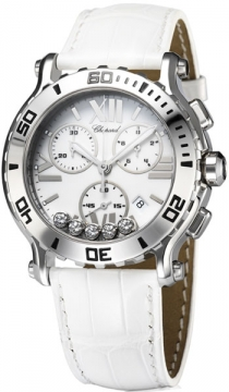 Chopard Happy Sport Chronograph Quartz 42mm Ladies watch, model number - 288499-3001, discount price of £5,508.00 from The Watch Source