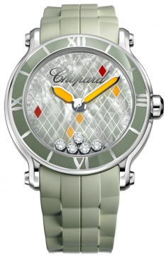 Chopard Happy Sport Round Quartz 42mm Ladies watch, model number - 288524-3003, discount price of £5,261.00 from The Watch Source